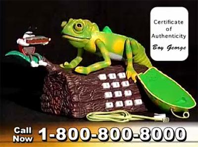 Karma Chameleon Telephone: See Boy George Himself Sell a ...