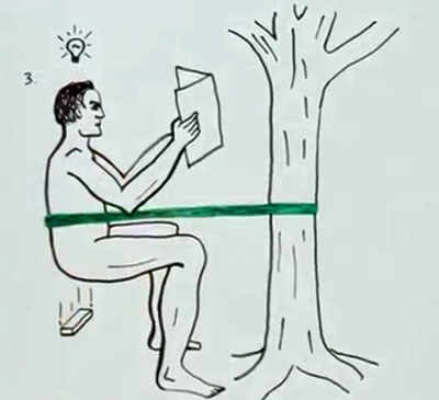 Squat Strap Ties You To A Tree So You Can Poop In The Woods