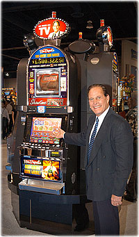 Ron Popeil with his 'But Wait! Win More!' Slot Machine