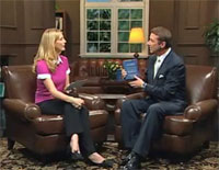 Host Julie Lancaster with Kevin Trudeau