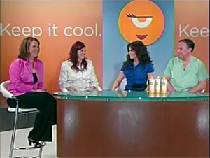 Marie Osmond and others on the set of the GEM infomercial
