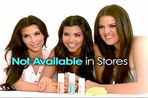 Kim, Kourtney, and Khloe Kardashian on the Perfect Skin infomercial