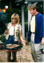 Mick and Mimi hosting the Red Devil Grill infomercial