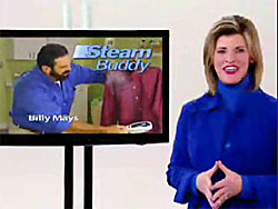 Deborah Mays, wife of Billy Mays, hosting the Steam Buddy infomercial