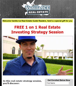 Vanilla Ice promises a one-on-one strategy session