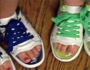 Toesys Sneakers: Live Vicariously Through Your Daughter's Painted Toenails